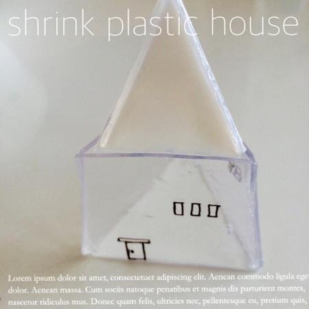 プラ板で、ガラス風雑貨