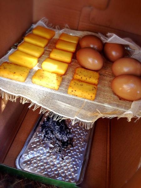 チーズとたまごの燻製