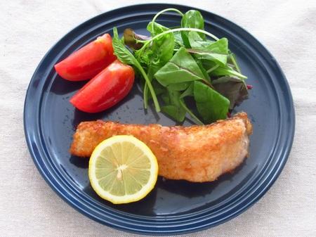 秋鮭のサーモンフライ