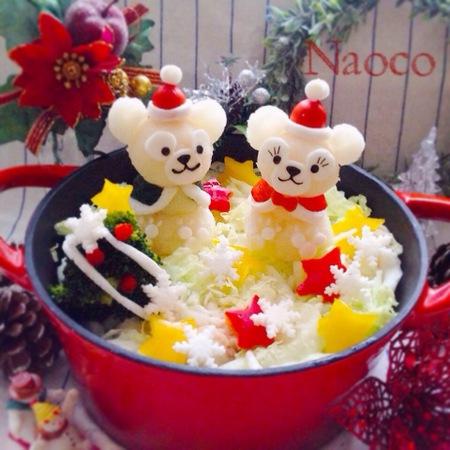 クリスマスだって鍋料理を♪ダッフィーサンタで