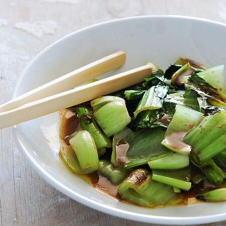 味噌とチンゲン菜のソテー