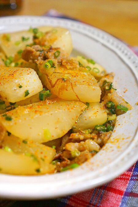 豚バラ肉と大根の味噌炒め煮