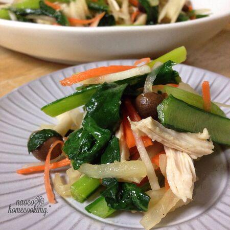 レンジで簡単!「ささみと温野菜のサラダ」のレシピ