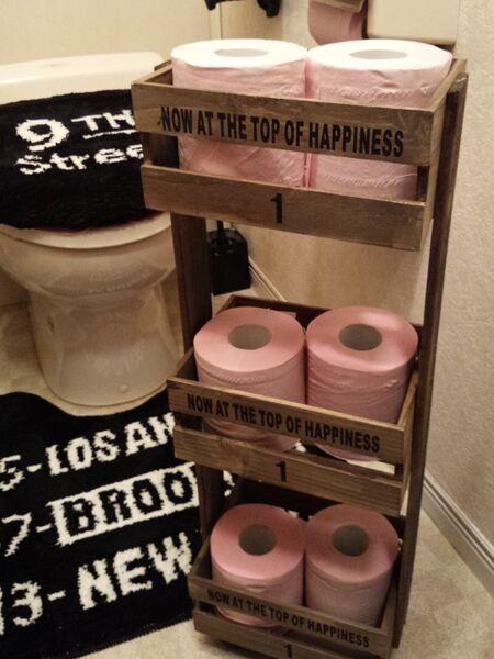 トイレットペーパー収納すのこ棚