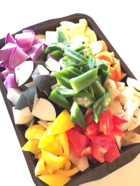 作り置き!つまみに、お弁当に、カラフル温野菜ガーリックオイルいため