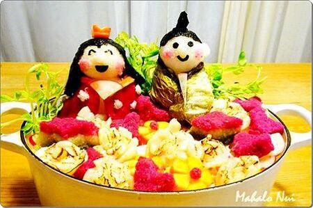ひな祭りにおススメ☆鮮やかミルフィーユ鍋