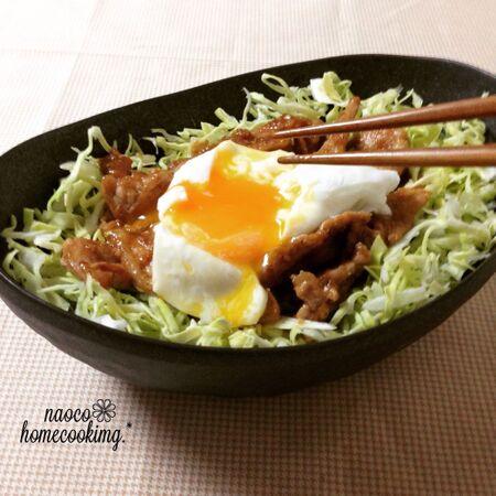 節約&簡単♪ 春キャベツと豚こまで作る☆とろ~り卵とごま味噌豚レシピ