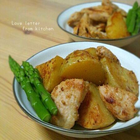 新じゃが+鶏ムネ肉のやわらかさっぱり煮