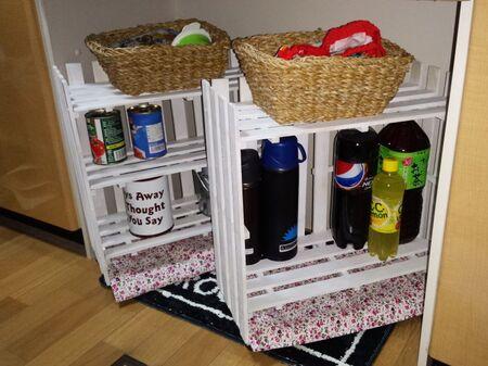 移動式キッチン棚