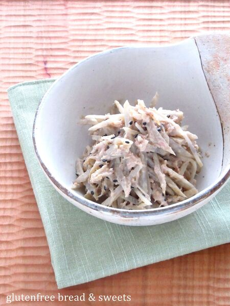 ごぼうのゴマ味噌サラダ