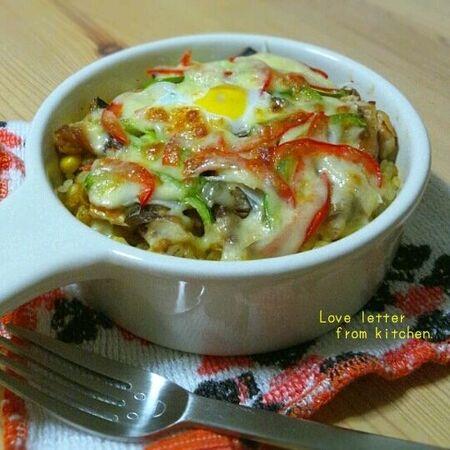 鯖の味噌煮→ドリアに!「さば味噌、カレーに焼いちゃいました。」レシピ