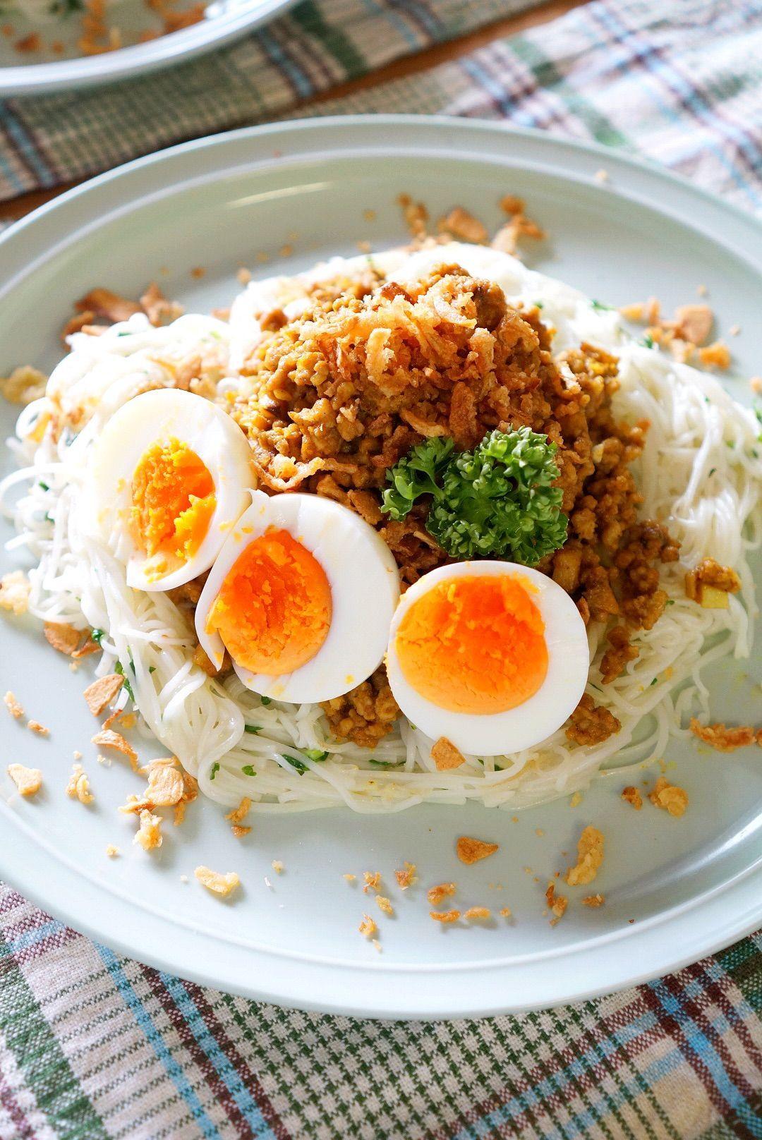 簡単!美味しい!素麺アレンジ☆キーマカレーそうめんのレシピ