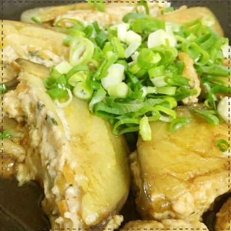 簡単!賀茂なすと万能鶏胸肉のミンチ種で和風ハンバーグ