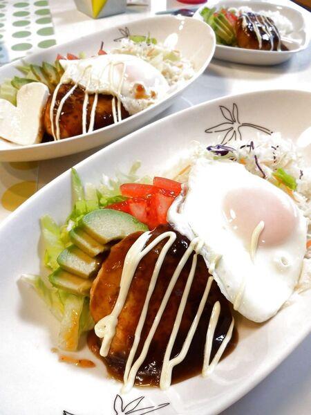 ヘルシー☆高野豆腐で和風ロコモコ丼のレシピ