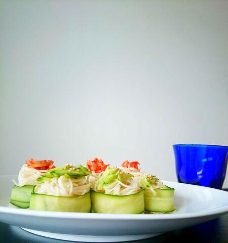 サバ缶で簡単に美しく❤冷たい麺バージョン!栄養満点そうめん