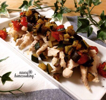 簡単ボリュームおかず!ささみとたっぷりのコロコロ野菜のレシピ