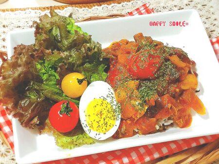 オーブン&レンジで簡単!おしゃれ☆カポナータのサラダ風ごはん