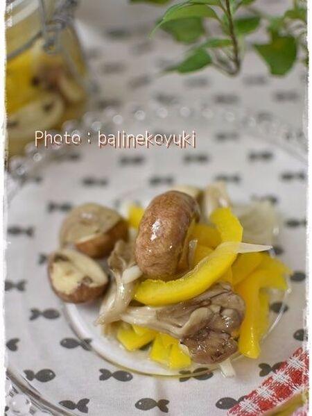 【レンチン】常備菜レシピ!簡単さっぱりきのこのマリネ