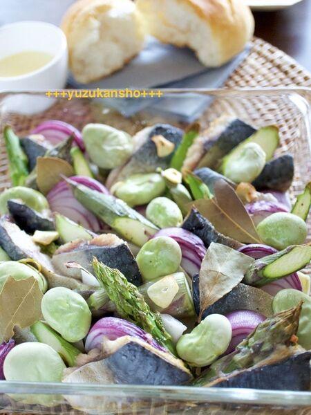 サバと野菜のオーブン焼き