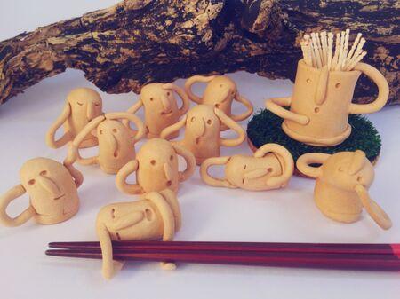 セリア木かるねんど1個で、はにわ形箸置きの作り方!
