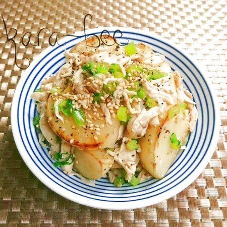 ほんのり中華風♪焼きカブと蒸し鶏のスパイシーサラダ
