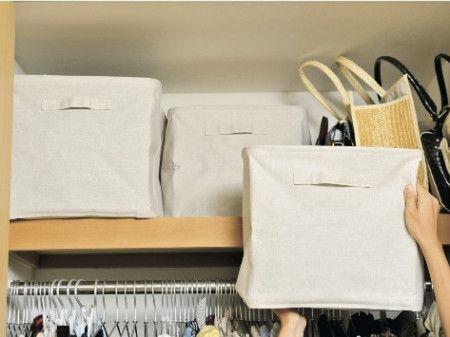 無印良品の持ち手付き布ボックスはバッグ収納にも活躍!