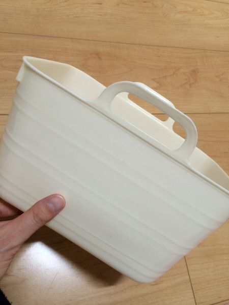 ダイソーの柔らかバスケットで野菜の損傷を防止