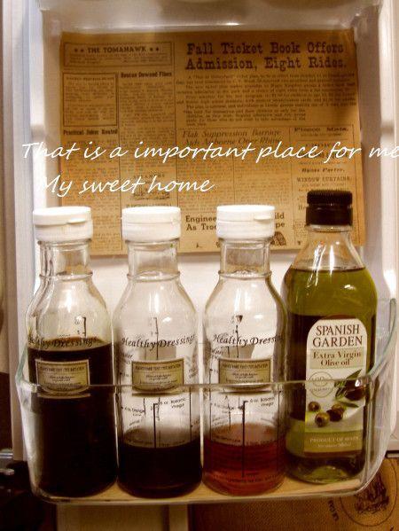 液体調味料はおしゃれボトルに統一