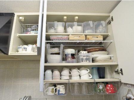 収納 方法 棚 食器