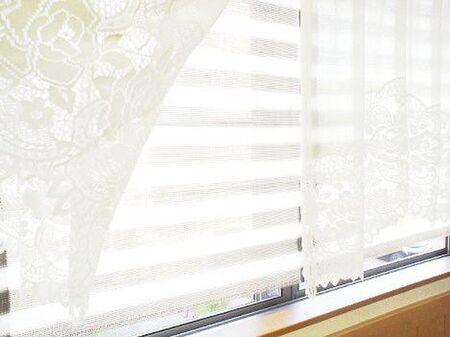 窓とカーテンの間に快適オーニング
