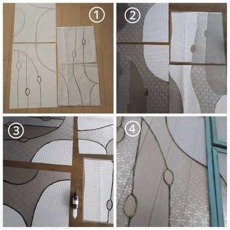 作り方④ガラスシートで扉を作る