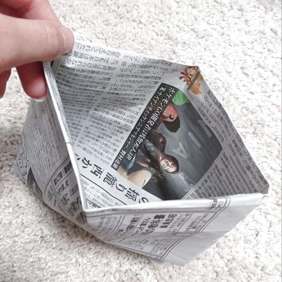 新聞紙 で 作る ゴミ 袋