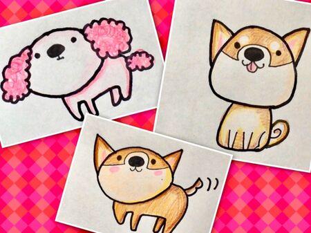 年賀状にも使える可愛い犬のイラストの描き方 暮らしニスタ