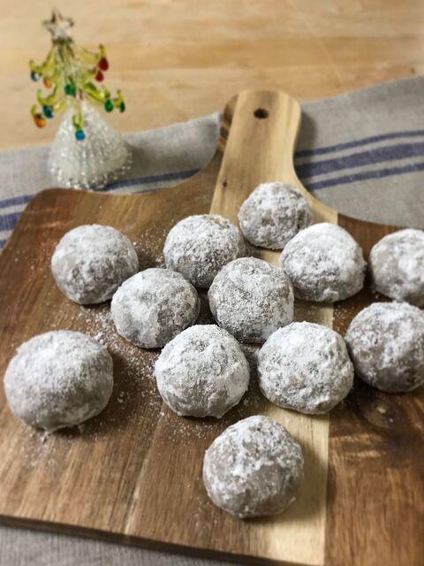 ボール クッキー 簡単 スノー