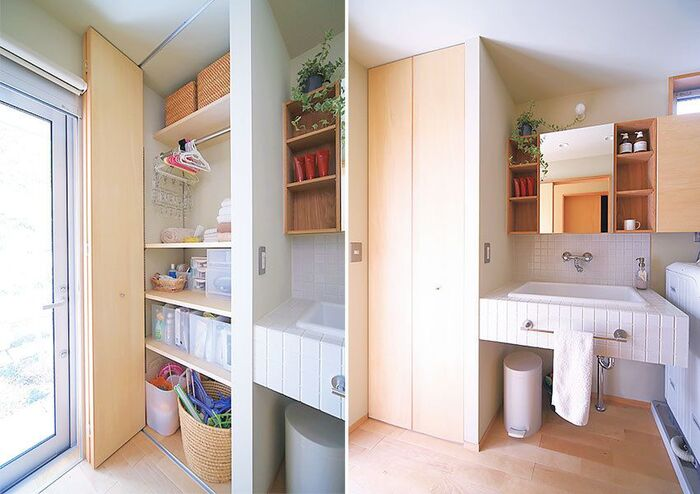 収納が多めの洗面室