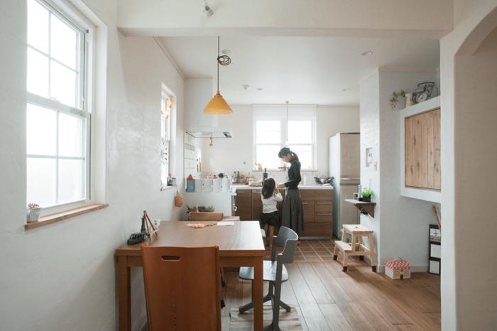 L 型キッチン