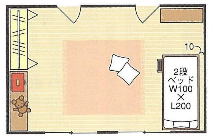 12畳の子供部屋の間取り例