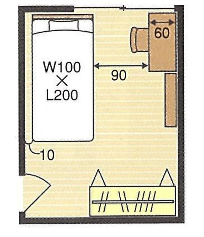 6畳の子ども部屋の間取り例
