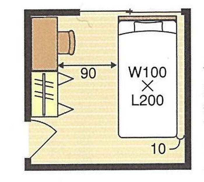4.5畳のこども部屋の間取り例