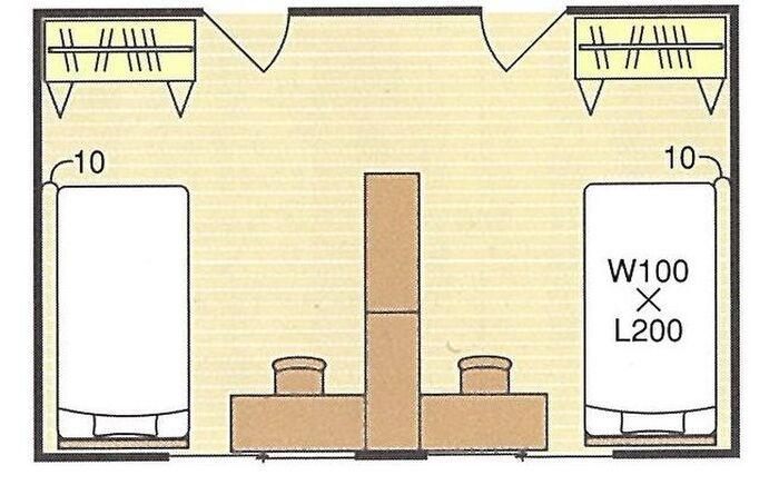 12畳ワンルームを分けた子ども部屋の間取り