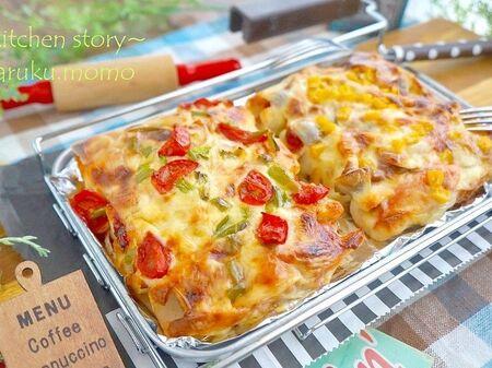 生地作り不要!ちくわで『ちぎりピザ&シーフードピザ』(糖質オフレシピ)