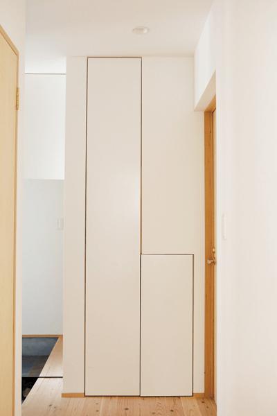 玄関と洗面室のデッドスペースの収納