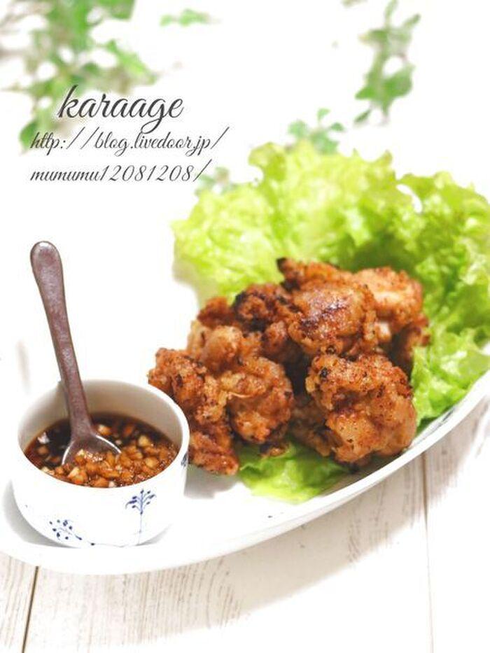 鶏の唐揚げ・黒酢ソース