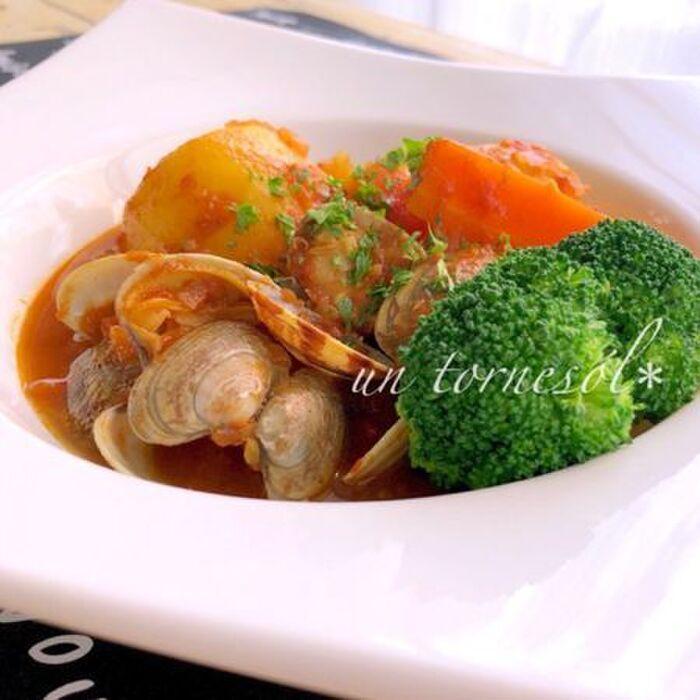 アサリとごろごろ野菜のスープカレー