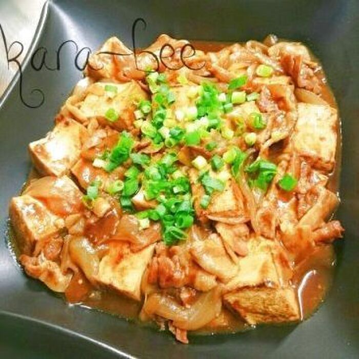自慢のカレー肉豆腐