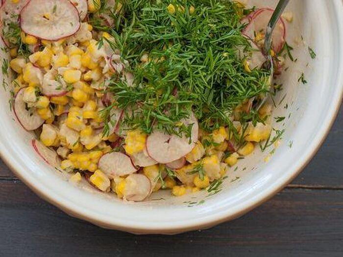 コーンと味噌を使った絶品サラダ