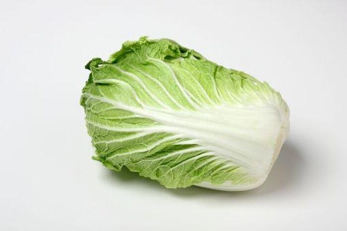 横たわった大きな白菜