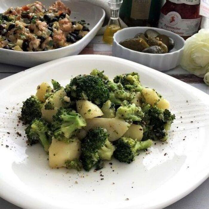 ジャガイモとブロッコリーのイタリアンソテー