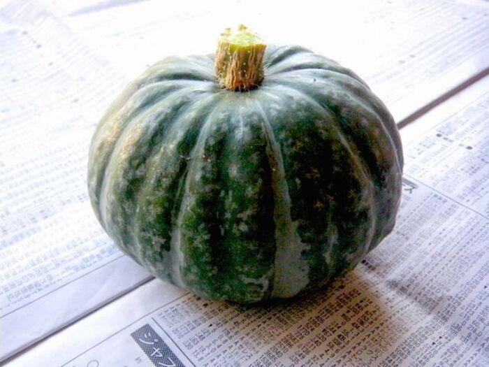 丸ごと1個のかぼちゃ
