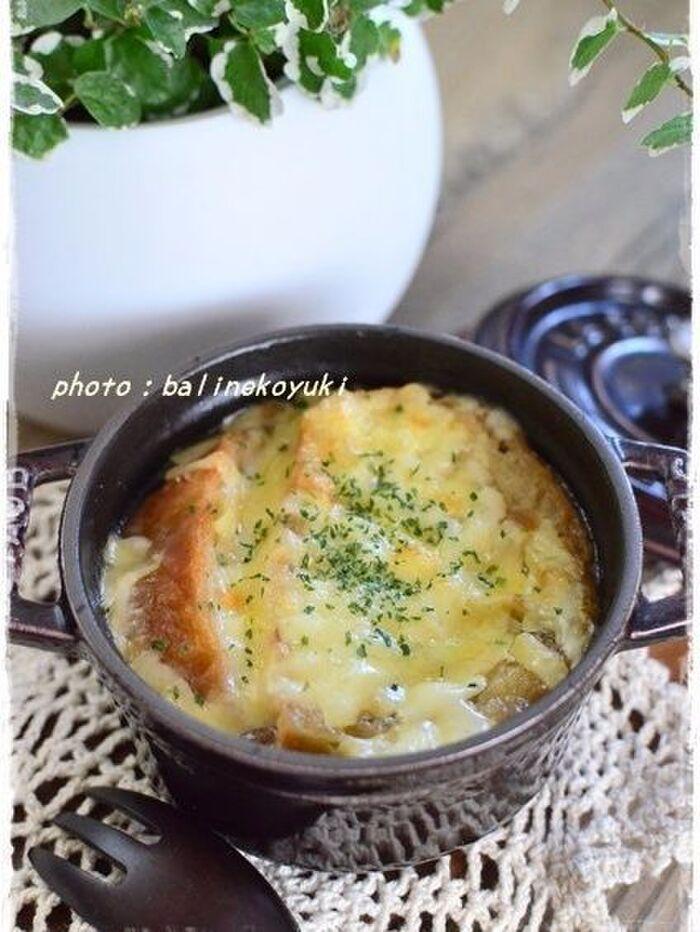 オニオングラタンジンジャースープ